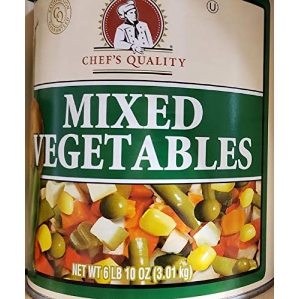 Chefs Quality Canned Mixed Vegetables 3.01kg - 6lb 10oz Kosher