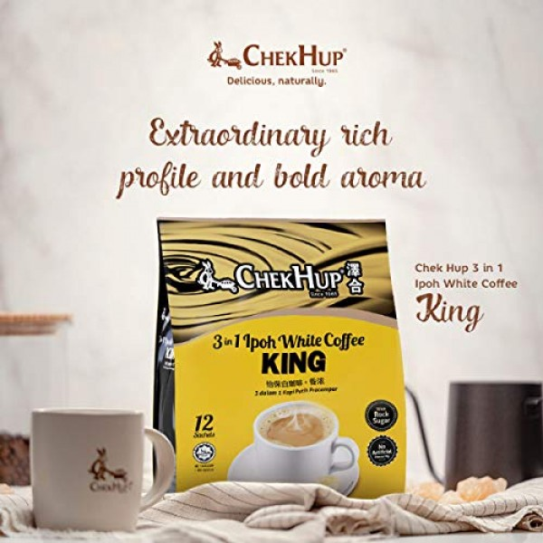 1 Pack ChekHup 3 In 1 Ipoh White Coffee KING By Chek Hup