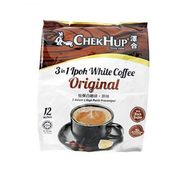 2 Packs Chek Hup 3 in 1 Ipoh White Coffee - Original Imported fr...