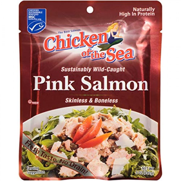 Chicken of the Sea Pink Salmon, Skinless-boneless, 5 Oz., Pack ...