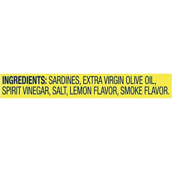 Chicken of the Sea Sardines, Extra Virgin Olive Oil Lemon, 3.75 ...