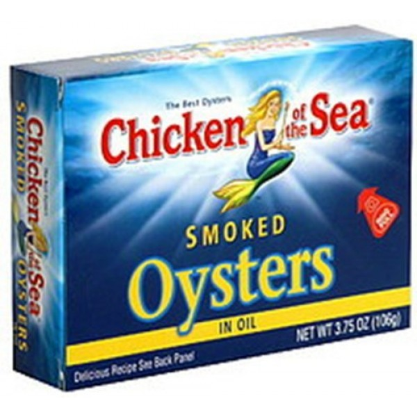 Chicken of the Sea Smoked Oysters in Oil, 3.75-ounce Pack of 6