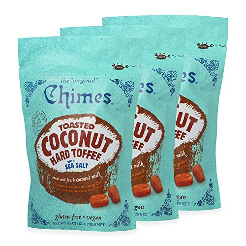 Chimes Toasted Coconut Toffee with Sea Salt Candy 3.5 Oz. - Pack...