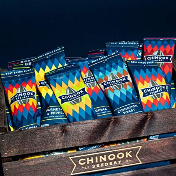 Chinook Seedery Roasted Sunflower Seeds, Gluten Free, Non GMO, 6...