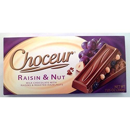Choceur Raisin & Nut Milk Chocolate With Raisins & Roasted Hazel...