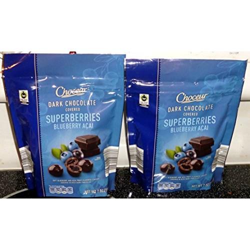 Choceur Dark Chocolate Covered Superberries - Blueberry-Acai (2 ...