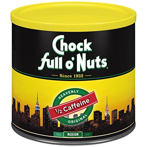 Chock Full o'Nuts Heavenly Half Caffeine Ground Coffee, Medium R...