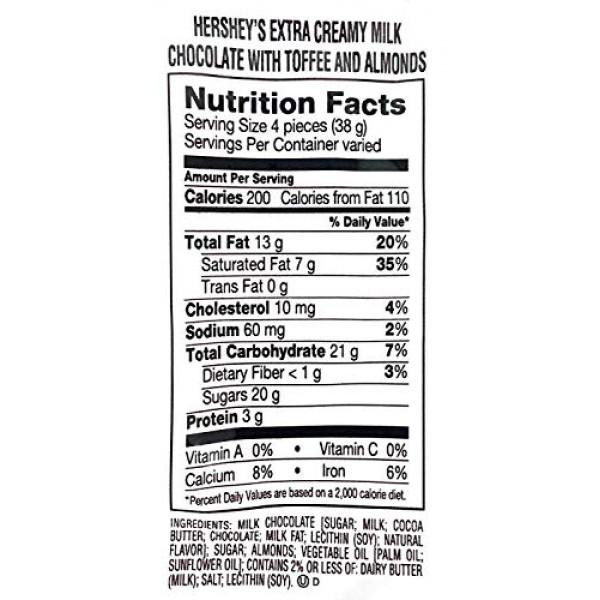 Hersheys Nuggets with Toffee, Almonds Extra Creamy Milk Chocola...
