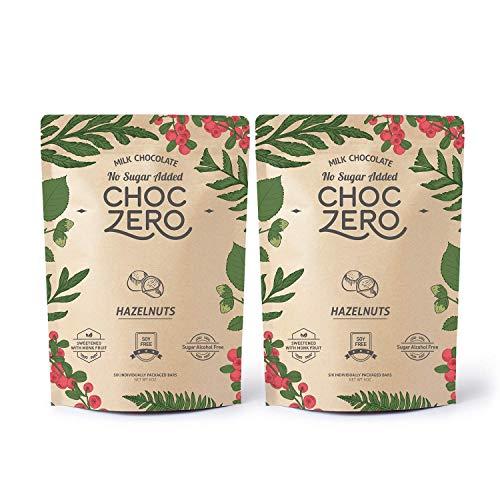 ChocZeros Keto Bark, Milk Chocolate Hazelnuts, No Added Sugar, ...