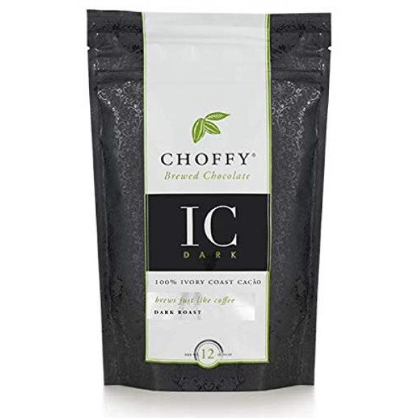 Choffy, IC Dark, Brewed Chocolate, Cocoa, Dark Roast, 12 oz. cof...