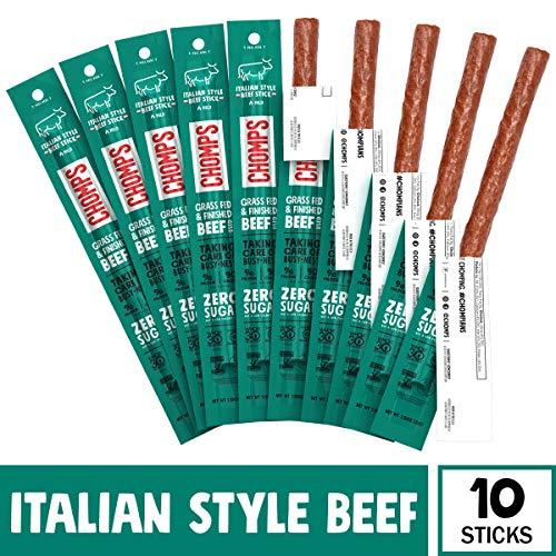 CHOMPS Grass Fed Beef Jerky Meat Snack Sticks, AIP Diet Complian...