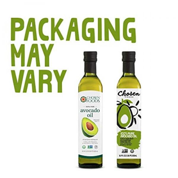 Chosen Foods 100% Pure Avocado Oil 16.9 oz. 2 Pack, Non-GMO fo...