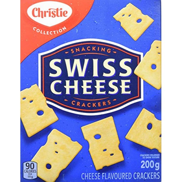 Christie Swiss Cheese Crackers, 200g/7.1oz., 6ct, {Imported from...
