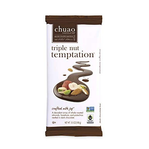 Chocolate Bars - Chuao Chocolatier Triple Nut Temptation Chocola...
