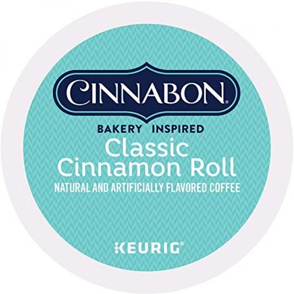 Cinnabon Classic Cinnamon Roll, Single-Serve Keurig K-Cup Pods, ...
