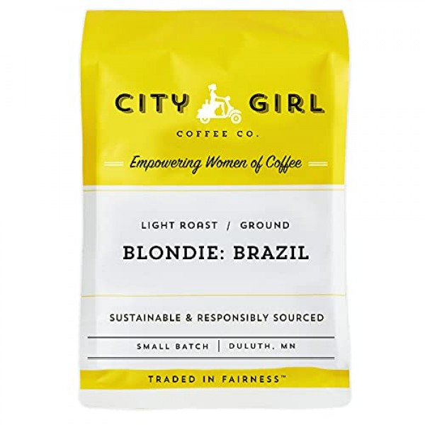 City Girl Coffee Blondie Brazil Single Origin GROUND, Light Ro...