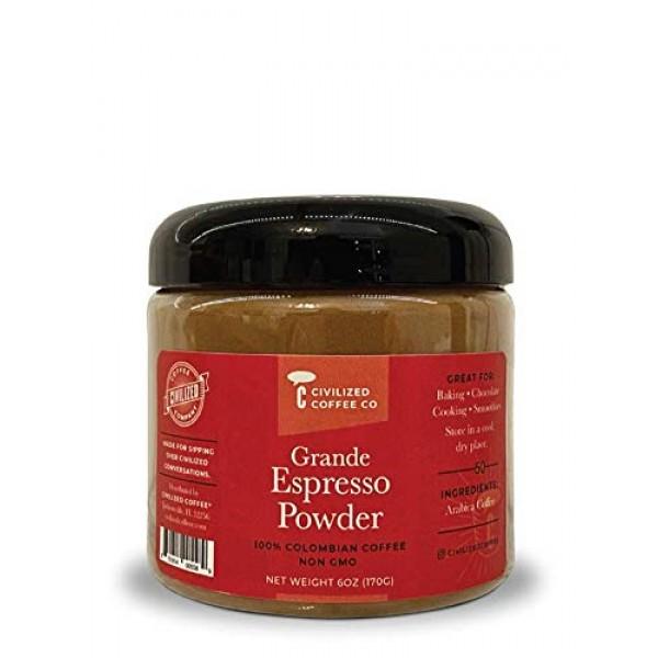 Civilized Coffee Grande Espresso Coffee Powder for Baking and Sm...