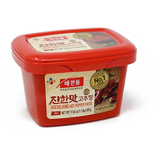 CJ Haechandle Gochujang, Hot Pepper Paste, 500g Korean Spicy Re...