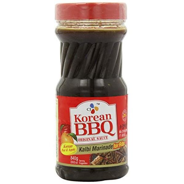 CJ Korean BBQ Sauce, Kalbi, 29.63-Ounce Bottle for Ribs 1