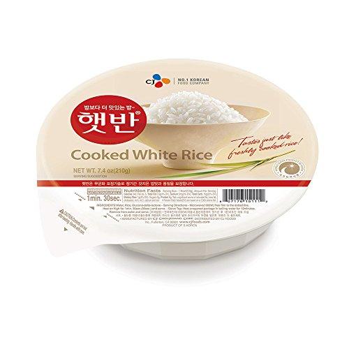 CJ Rice - Cooked White Hetbahn, Gluten-Free & Vegan, 7.4-oz 12 ...