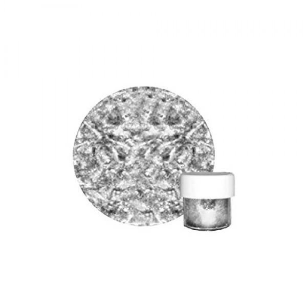 Fine Edible Metallic Silver Glitter Dust 4.5 grams by CK