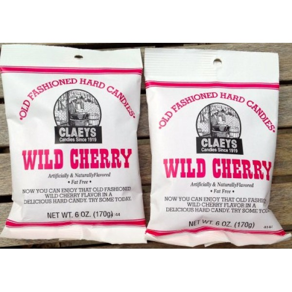 Claeys Wild Cherry Flavored Old Fashioned Hard Candy - 2 X 6oz ...