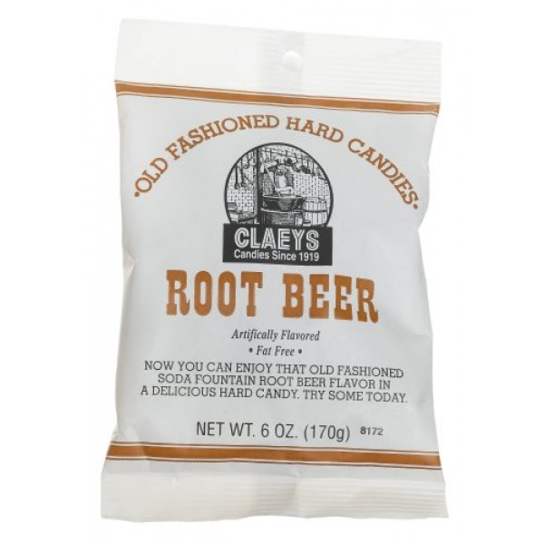 Claeys, Old Fashioned Hard Candy Root Beer, 6 oz