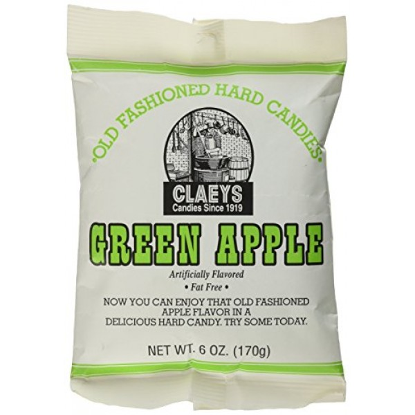 Claeys, Old Fashioned Hard Candy Green Apple, 6 Ounce Bag