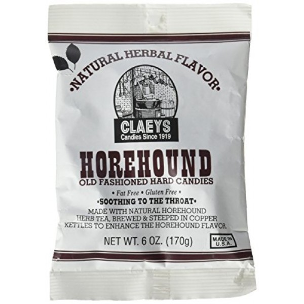 Claeys Horehound Hard Candy, 6 oz Pack of 3