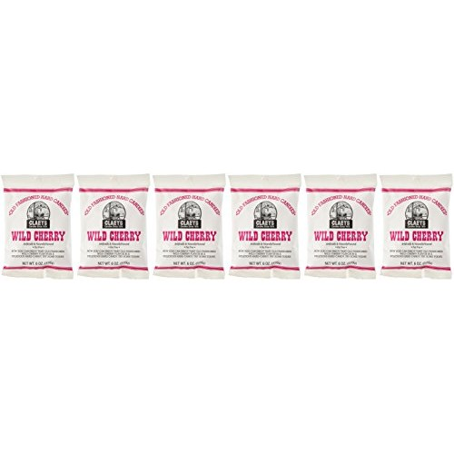 Claeys Old Fashioned Hard Candy Wild Cherry Pack of 6