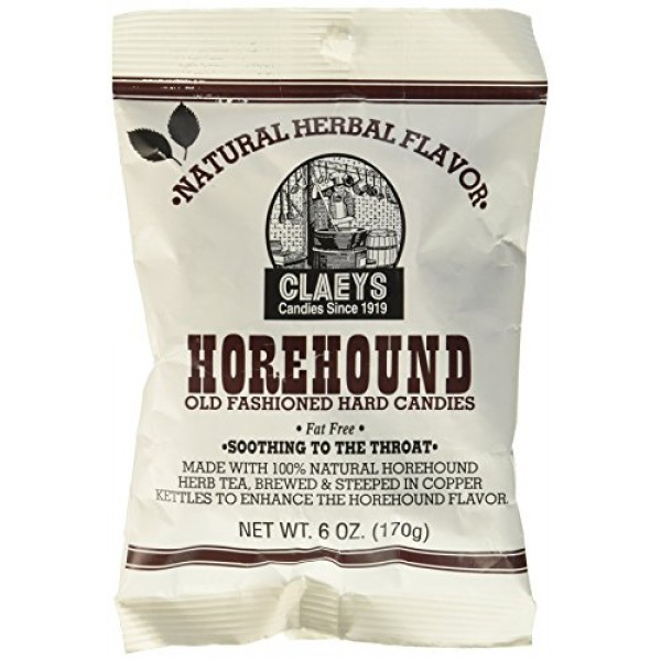Claeys Old Fashioned Hard Candy, Horehound, 6 Ounce