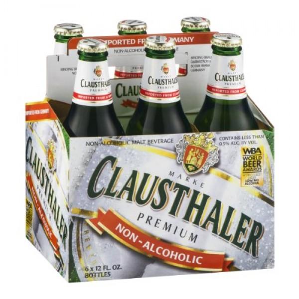 Clausthaler Non-Alcoholic Malt Beverage, 12 Oz Pack of 6 Bottles