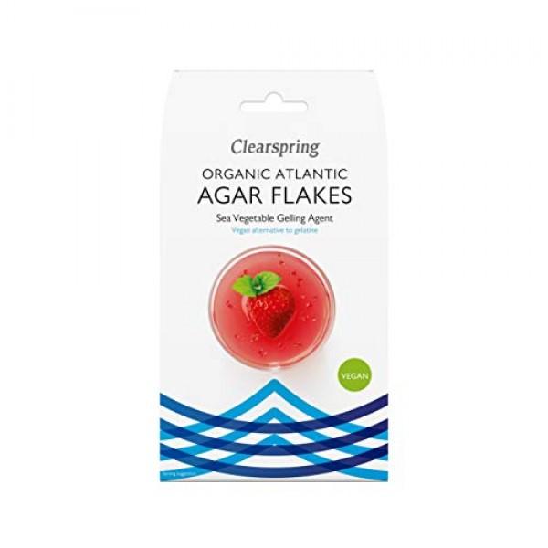 Clearspring Organic Atlantic Agar Flakes Sea Vegetables Gelling ...