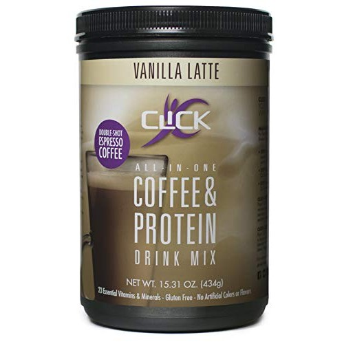 CLICK All-in-One Protein & Coffee Meal Replacement Drink Mix, Va...