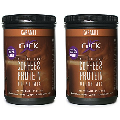 CLICK All-in-One Protein & Coffee Meal Replacement Drink Mix, Ca...