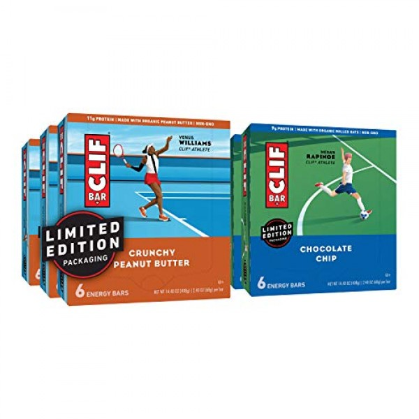 CLIF BAR - Energy Bars – Care Package - Chocolate Chip and Crunc...
