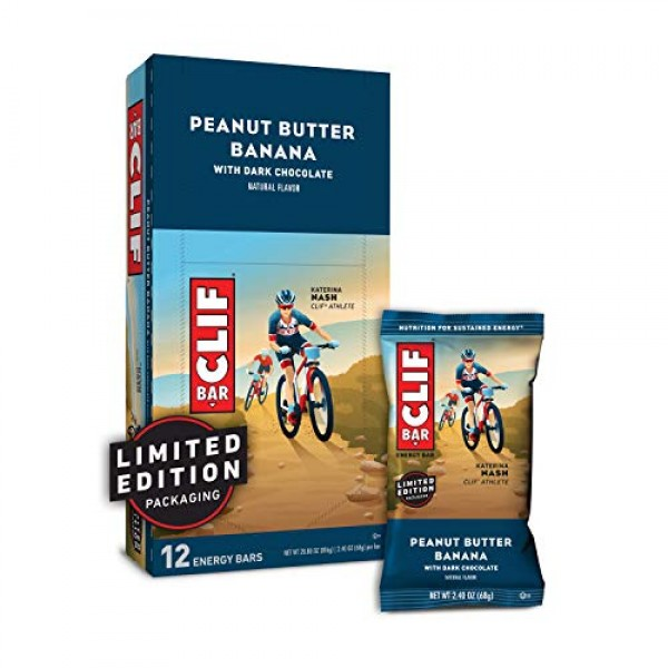 CLIF BAR - Energy Bars - Peanut Butter Banana Dark Chocolate - ...