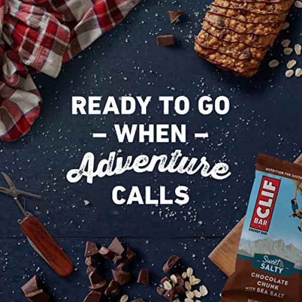 CLIF BAR - Sweet & Salty Energy Bars - Chocolate Chunk with Sea ...