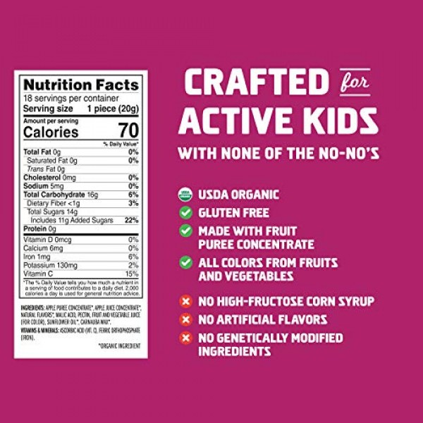 CLIF KID ZFRUIT - Organic Fruit Rope - Mixed Berry Flavor - 0.7...