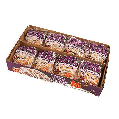 Cloverhill Big Texas Cinnamon Rolls 16 Count - 4 oz. Pastries
