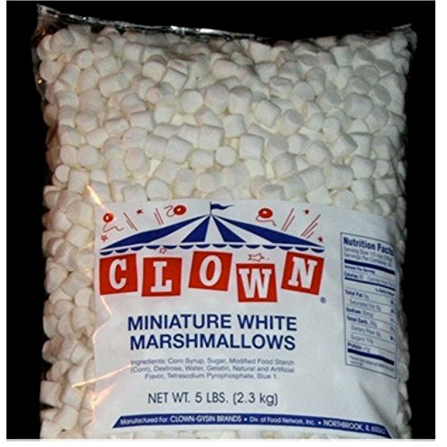 Clown Global Brands White Mini Marshmallows - 5 lb. poly bag, 4 ...