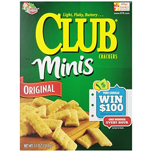 Club Crackers, Original Minis, 11-Ounce Boxes Pack of 4