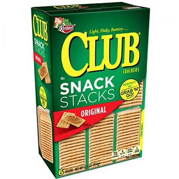 Keebler Club, Crackers, Original, Snack Stacks, Grab N Go, 12....