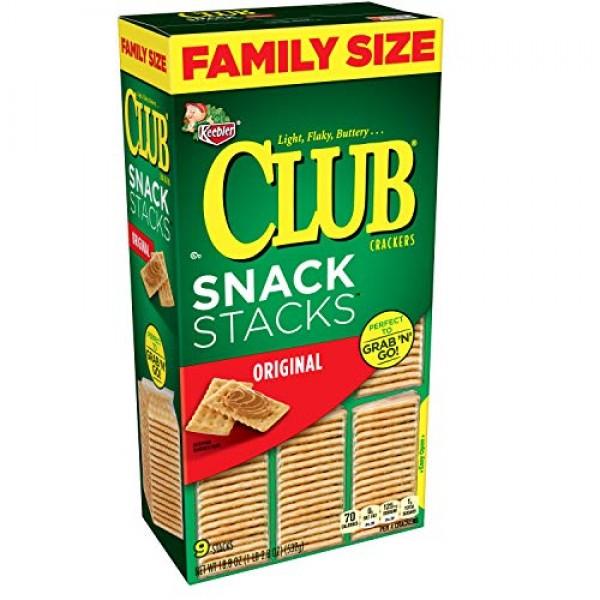 Keebler Club Crackers, Snack Stacks, Original, Grab N Go, Fami...