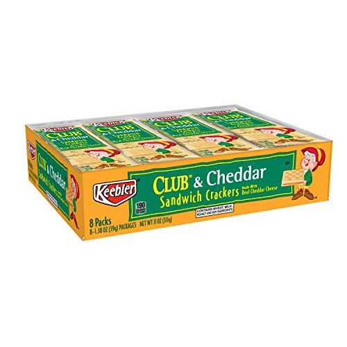 Keebler Club and Cheddar Sandwich Crackers, Single Serve, 1.38 o...