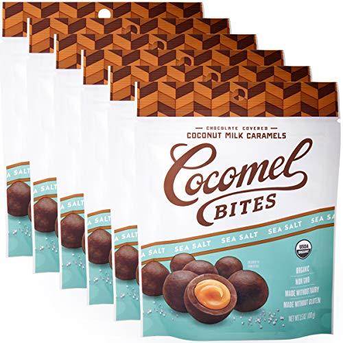 Cocomels Chocolate Sea Salt Caramel Bites, Organic Candy, Dairy ...