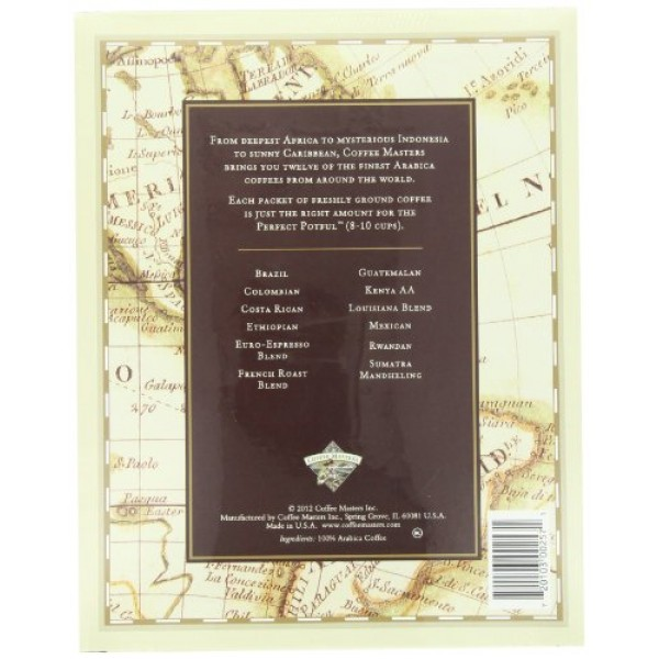Coffee Masters Around the World in Twelve Coffees, 18.0-Ounce