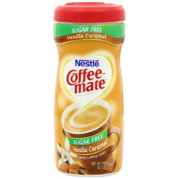 Coffee-Mate Coffee Creamer Sugar Free Vanilla Caramel, Pack of 6...