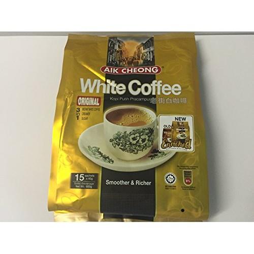 Aik Cheong Instant 3 in 1 White Coffee Tarik Original 600g. 40g...