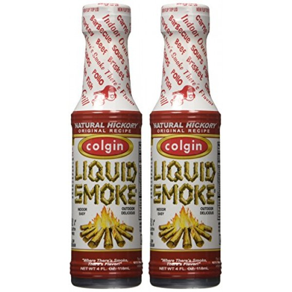 Colgin Liquid Smoke, Natural Hickory, 4-Ounce Pack of 2